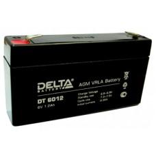DT 6012. Аккумулятор 6В, 1,2 А/ч, 97х24х58мм, 0.29кг