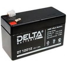 DT 12012. Аккумулятор 12В, 1,2 А/ч, 97х43х58мм, 0.58кг