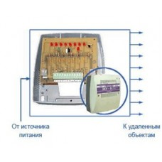 ЗКУ-8 ЛЮКС. Защитно-коммутационное устройство для распределения тока ист.пит. на 8 каналов с защитой